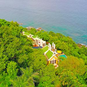 180 Degree views of the Caribbean Sea